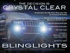 Blue Led Fog Lamps Driving Light Foglamps For 2011 2013 Jeep Grand Cherokee Wk2