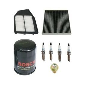 New For Honda Accord 2 4 Tune Up Kit Filters Oil Cabin Air Plugs Oil Drain Plug