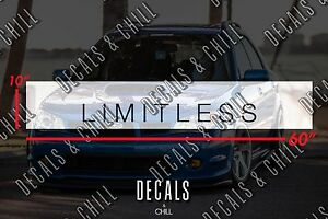Limitless Sun Strip Visor Windshield Banner Decal Sticker Illest Lowered Jdm