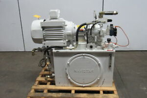 Rexroth Us Motors 35 Gallon 7 1 2 Hp Hydraulic Power Unit Pump With Extras