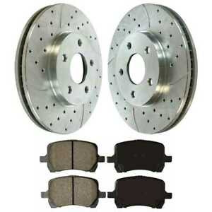 Front 2 Drilled Slotted Brake Rotors 4 Ceramic Pad For 06 2011 Chevrolet Hhr