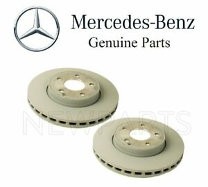For Oem For Mercedes W211 E320 E350 Set Of Two Front Brake Disc Rotors Genuine