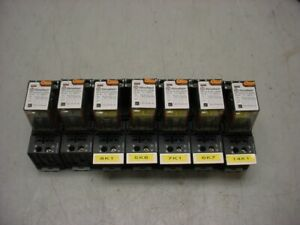 Lot Of 7 finder 24v 55 34 8 024 0040 Power Relay In Type 94 04 Relay Socket