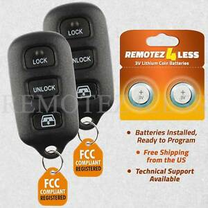 2 For 2001 2002 2003 2004 2005 2006 2007 2008 Toyota Sequoia Remote Key Fob