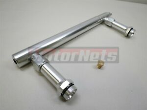 Billet Aluminum Fuel Log Line For Holley 4150 Double Pumper Carburetor Sbc Bbc