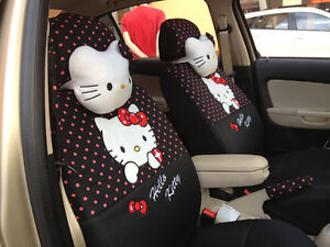 New Hello Kitty Car Seat Covers Accessories Set 18pcs