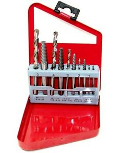 10pc Screw Extractor Right Hand Drill Bit Set Easy Out Broken Bolt New