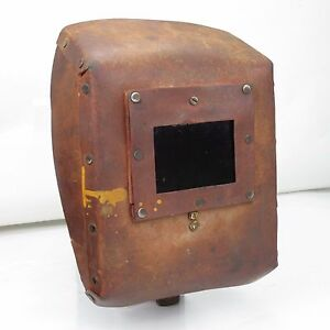 Vintage Welding Mask Shield Hood Helmet Cardboard Great Decoration Steampunk s2