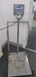 Mettler Toledo Panther Pthk1000000 300lb 150kg Floor Scale Wb150000 Load Cell