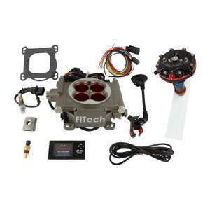 Fitech Fuel Injection System Kit 34003 Hy Fuel Go Street 400 Hp Tbi Satin