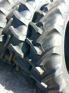 Two New 380 85r34 14 9r34 Radial Ford John Deere Tractor Tires
