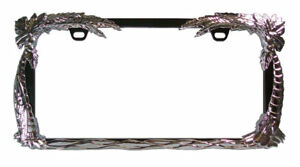 Ocean Breeze Palm Trees Chrome Black License Plate Tag Frame For Auto Car Truck