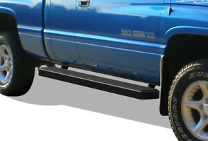 Iboard Running Boards 6 Matte Black Fit 94 01 Dodge Ram 1500 2500 3500 Club Cab