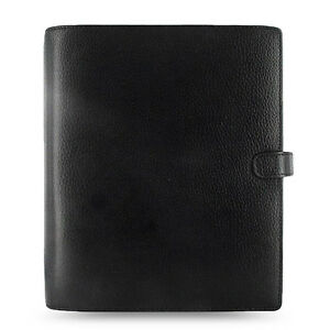 Filofax A5 Finsbury Organiser Planner Notebook Diary Black Leather 025368 Gift