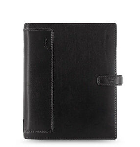 Filofax A5 Size Holborn Organiser Notebook Diary Black Leather 025118 Gift