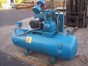 Compair Kellogg 5 Hp 2 Stage Reciprocating Air Compressor 335tv 17 2 Cfm 175psi