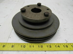 Browning 2q3v69 Cast Iron Pulley Sheave 2 Groove Split Taper 1 3 8 Bore