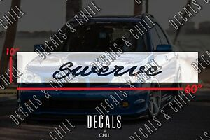 Swerve Sun Strip Visor Windshield Banner Decal Sticker Jdm Euro