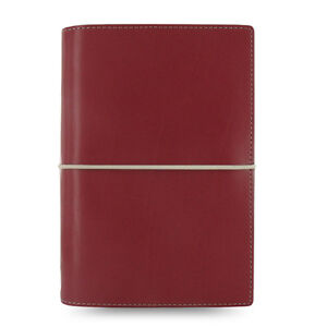 Filofax Personal Domino Organiser Diary Notebook Dark Red Leather 027810 Gift