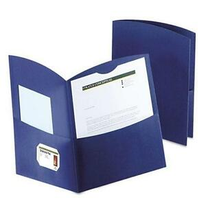 Oxford 5062523 Contour Two pocket Recycled Paper Folder 100 sheet Capacity Dar