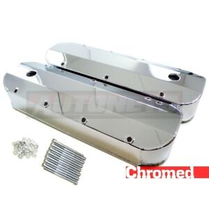 Chrome Fabricated Aluminum Valve Cover 396 427 454 502 Tall Bbc With Hole Big