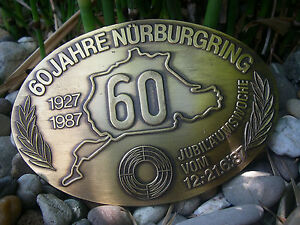 Vintage German 60 Years N rburgring Jubilee Car Badge Nuerburg ring Adac