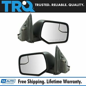 Exterior Power Heated W Blind Spot Glass Mirror Black Lh Rh Pair For Ford