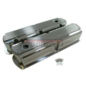 Sbf Ford Fin Polish Fabricate Aluminum Valve Cover No Hole Tall 5 0 289 302 351w