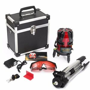 8 Line Rotary Laser Beam Self Leveling Interior Exterior Kit Tripod Warranty