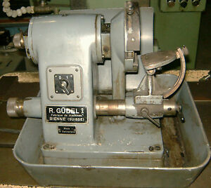 Gudel Precision Tool Grinder Made In Switzerland Table Top