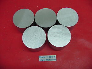 5 Pieces 4 Aluminum 6061 Round Solid Rod 2 Long T6511 4 00 Od Lathe Bar Stock