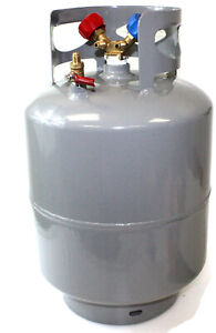 R410a Refrigerant Recovery Reclaim Cylinder Tank 48lb Pound 400 Psi Y Valve