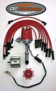 Sb Buick 300 340 350 Small Cap Red Hei Distributor 60k Coil 8mm Plug Wires