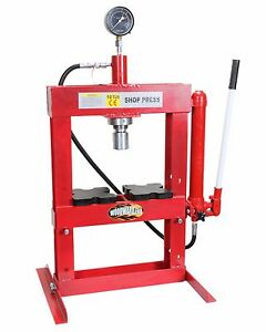 Hydraulic Shop H Frame Press 10 Ton Woodward Fab Pr102 Bench Mount Bearing