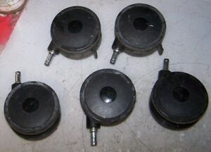 Set Of 5 Swivel Caster Shelf Utility Cart Wheels Lot Of 5
