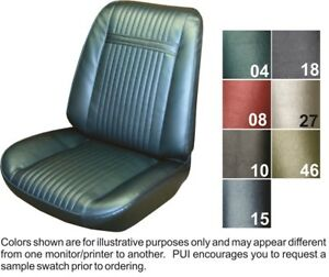 1966 Pontiac Grand Prix Front Buckets Coupe Rear W Armrest Seat Covers Pui