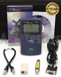 Fluke Networks Nettool 10 100 Network Connectivity Tester W Pro Option