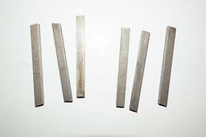 6 Nos Rex Aaa Hss 1 4 Square Tool Bits For Atlas South Bend Lathe Or Shaper