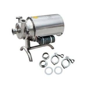 Stainless 304 110v 0 75kw Food Grade Centrifugal Pump Sanitary Beverage 3t h