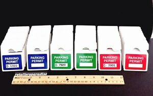 Professional Series Lot Of Car Parking Permits Permit Mirror Hang Pass Tag Tags