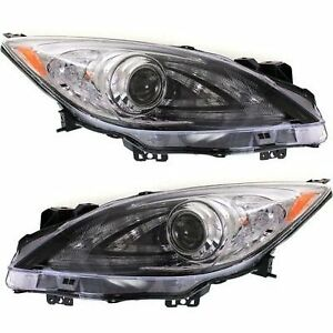 Hid Headlight For 2010 2013 Mazda 3 Left Right Pair