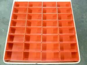 32 3 x6 x2 Deep Red Plastic Boxes Fit Lista Vidmar Toolbox Organizers Dividers