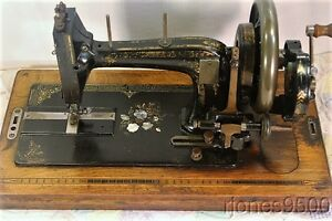 German Hand Crank Sewing Machine Early 1900s