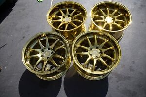 18x9 5 10 5 Aodhan Ds02 5x114 3 22 15 Gold Rims Fits 350z G35 Coupe used