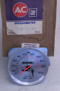 Nos Ac Delco Gm 25022946 Speedometer Odometer Gauge Chrome Style1980 Omega