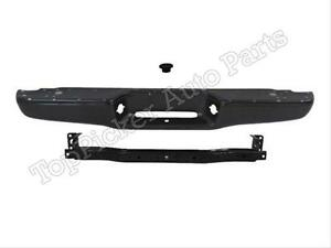 1995 2004 Toyota Tacoma Rear Bumper Face Bar Black Reinforce Hitch Bar Plug 3pc