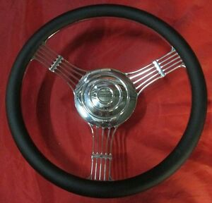 14 Billet 1 2 Wrap Custom Banjo Steering Wheel Horn Button Street Hot Rod