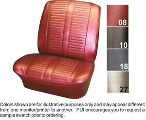 1965 Pontiac Catalina 2 2 Front Bucket Seat Covers Pui