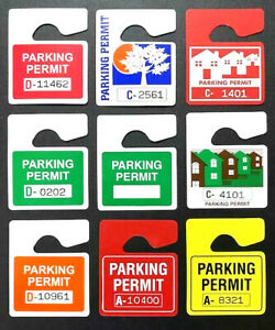 New Designer Series Lot Of Car Parking Permits Permit Mirror Hang Pass Tags Tag