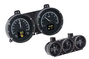 Dakota Digital 67 Camaro W Console Analog Gauges Black Alloy Hdx 67c cam k